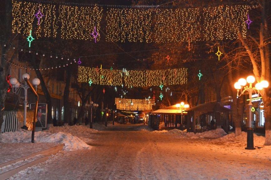 Как выглядит Полтава ночью накануне Нового Года, фото-4