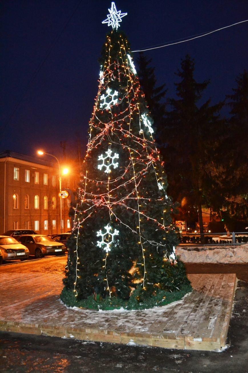 Как выглядит Полтава ночью накануне Нового Года, фото-11