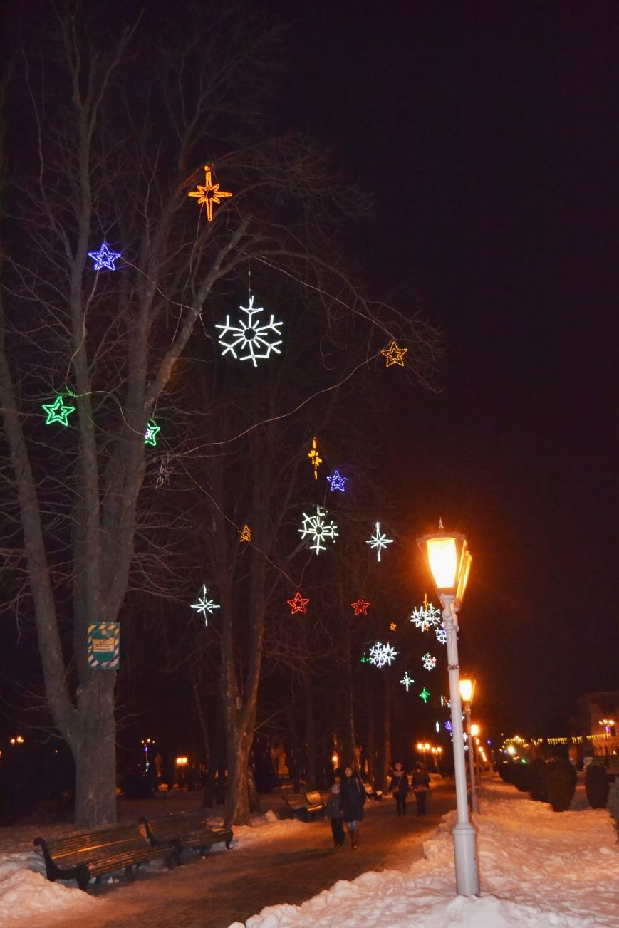Как выглядит Полтава ночью накануне Нового Года, фото-3