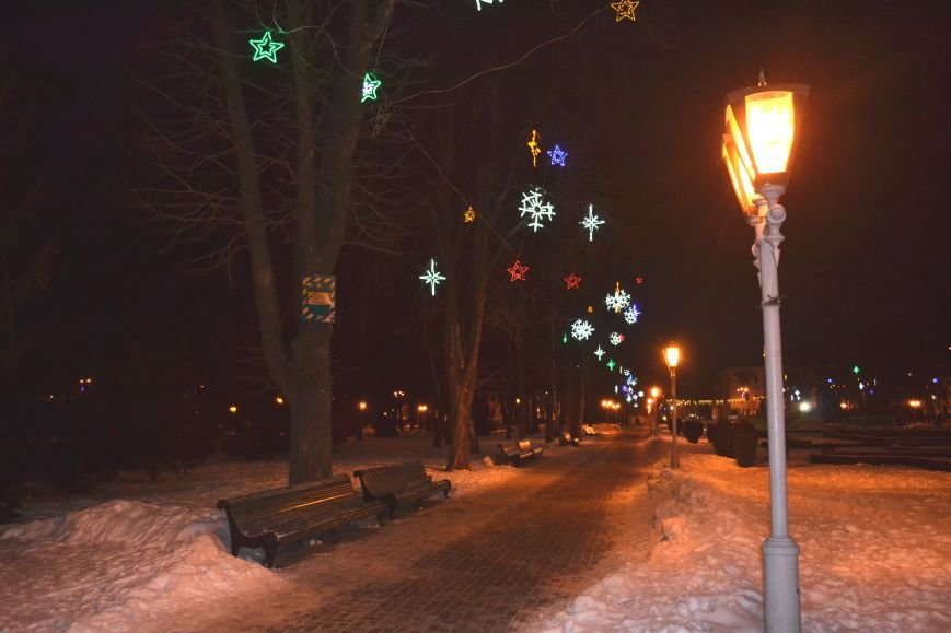 Как выглядит Полтава ночью накануне Нового Года, фото-2