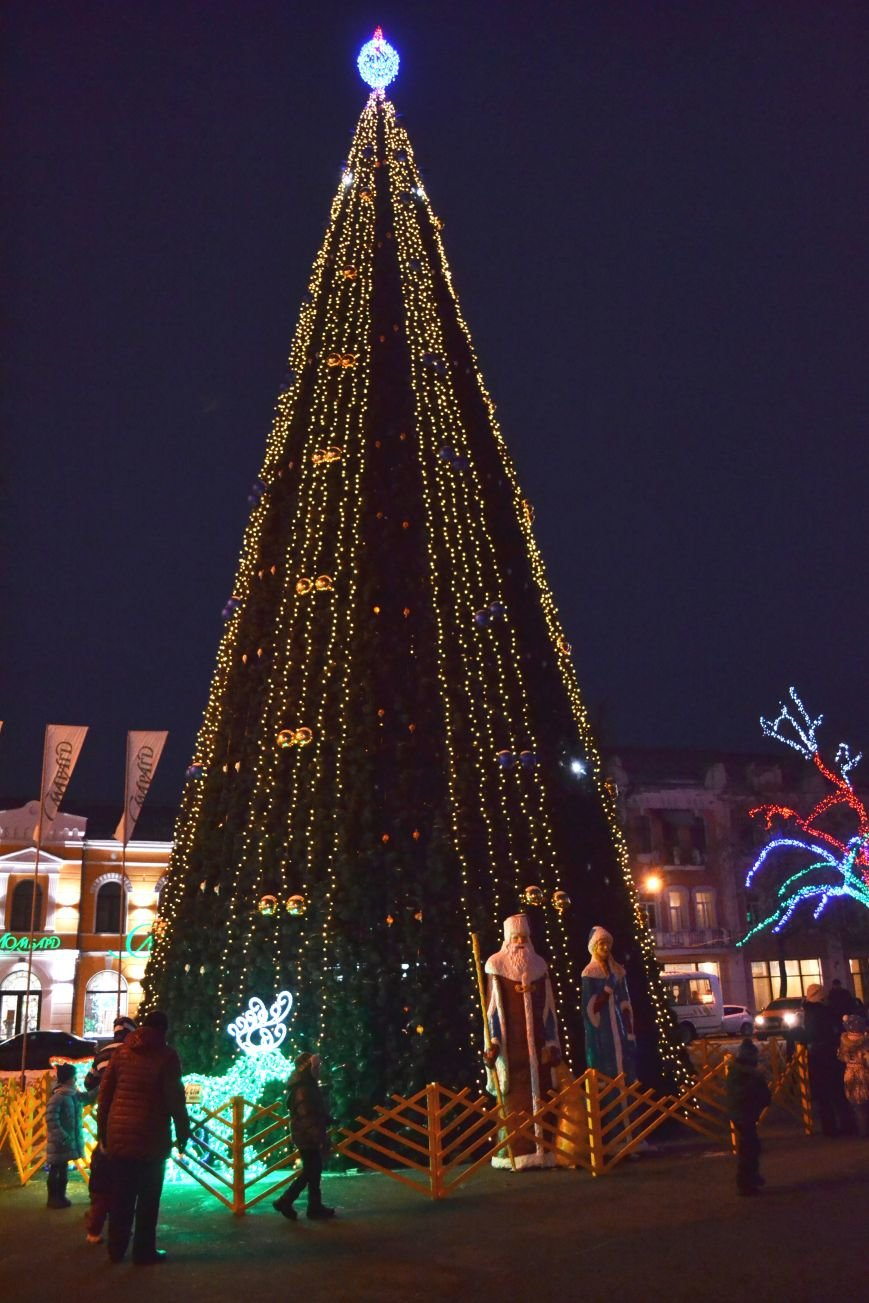 Как выглядит Полтава ночью накануне Нового Года, фото-7