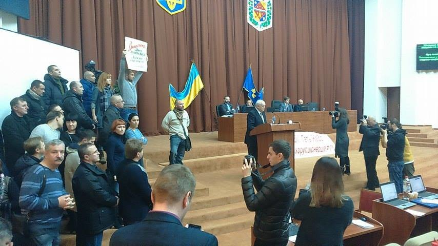 Противники начальницы Полтавской областной МСЭ устроили акцию протеста в областном совете (Фото), фото-3