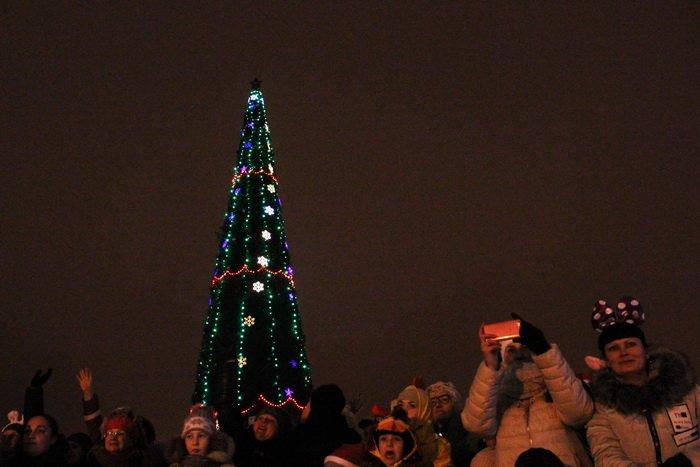 В преддверии Нового года витебчане и сотни сказочных персонажей «зажгли» центральную елку города, фото-24