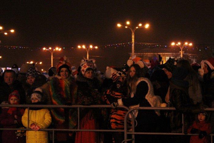 В преддверии Нового года витебчане и сотни сказочных персонажей «зажгли» центральную елку города, фото-8