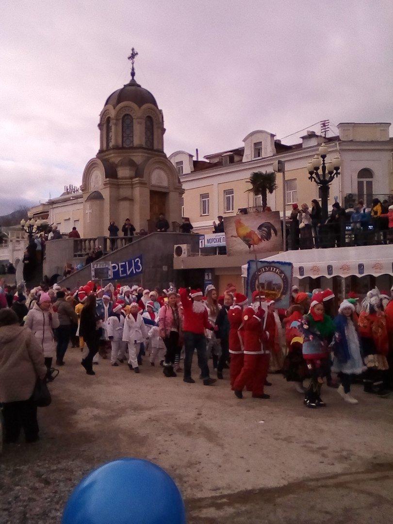 ВИДЕО: в Ялте прошел «Мороз-парад», фото-11