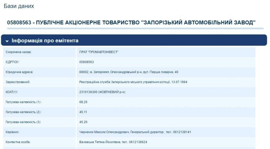 ПАТ АвтоЗАЗ - Промавтоинвест
