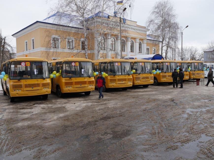 Школы Бахмутского района получили семь школьных автобусов, фото-1