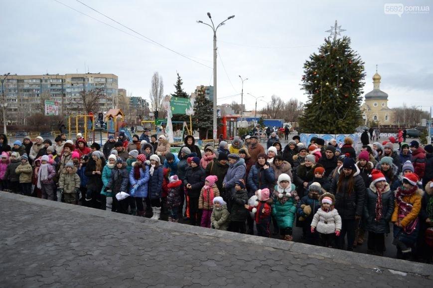 На Левобережье Каменского открыли новогоднюю елку, фото-1