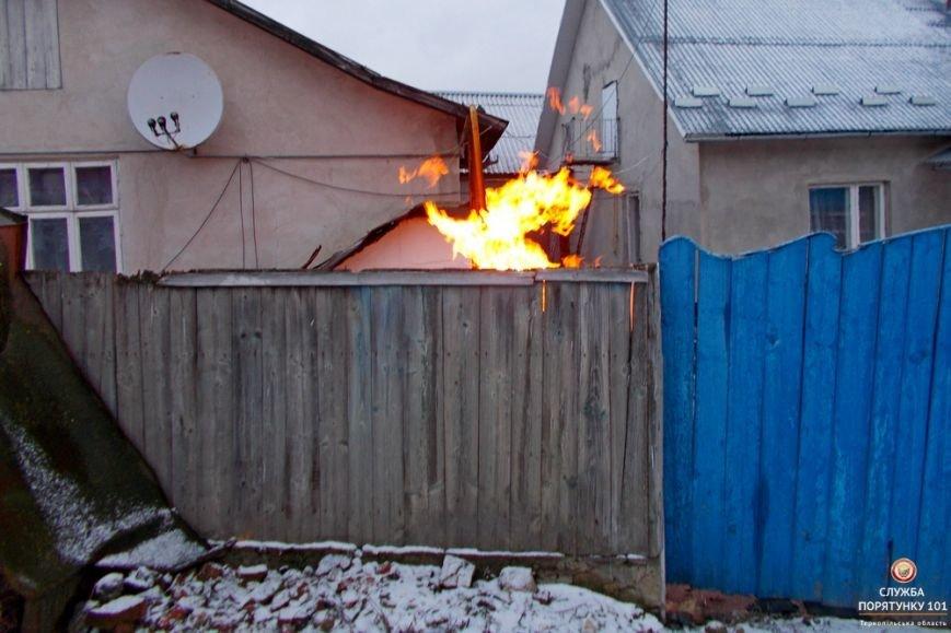 На Тернопільщини через пожежу ледь не сталося трагедії, фото-1