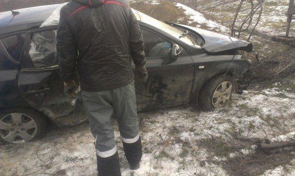 На объездной дороге в Кривом Роге иномарка слетела в кювет (ФОТО), фото-2