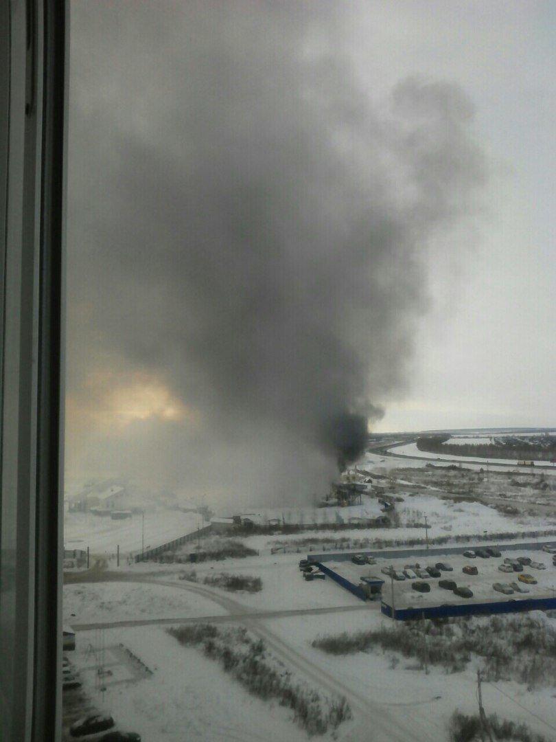 В Ульяновске горит кафе «Белуга». ФОТО, фото-1