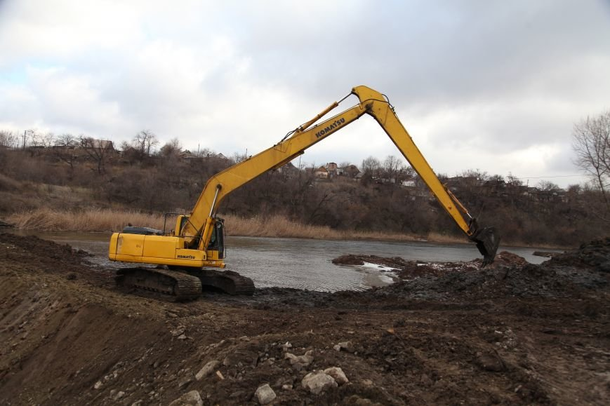 В Кривом Роге закончилось бетонирование шлюза новой дамбы, которая остановит подтопление домов на Гданцевке (ФОТО), фото-5