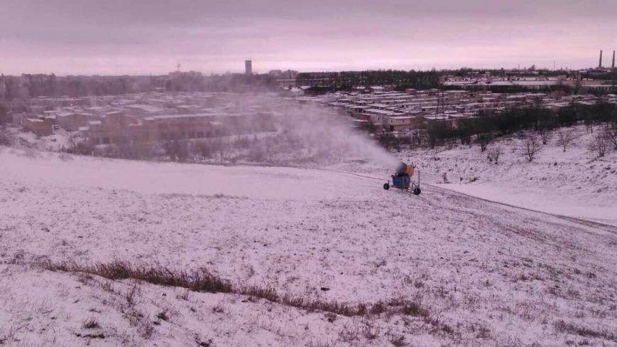 У Тернополі запустили снігову гармату (фото), фото-1