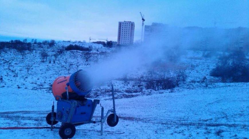 У Тернополі запустили снігову гармату (фото), фото-2