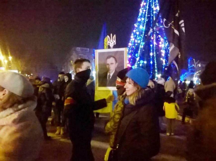 В Херсоне прошло «безфакельное» шествие в честь дня рождения национального деятеля Степана Бандеры (фото), фото-2