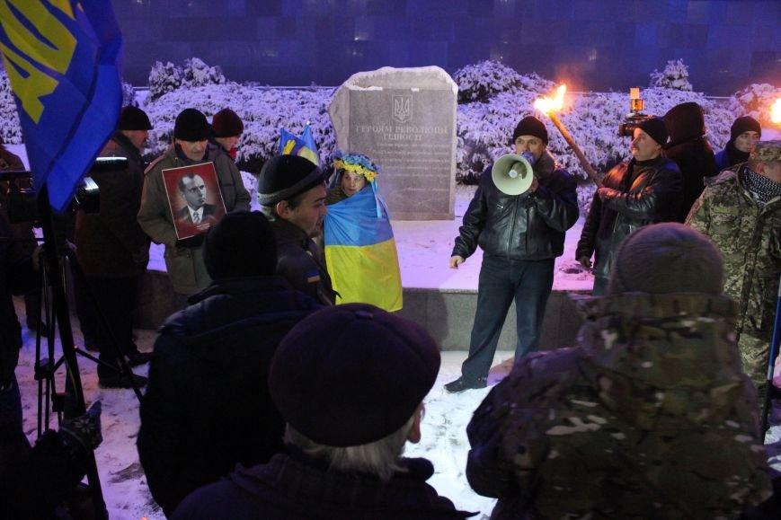 В Запорожье факельным шествием отметили День рождения Бандеры, - ФОТОРЕПОРТАЖ, фото-24
