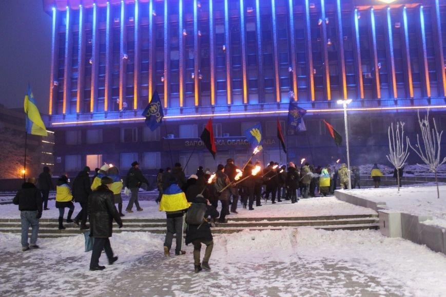 В Запорожье факельным шествием отметили День рождения Бандеры, - ФОТОРЕПОРТАЖ, фото-20