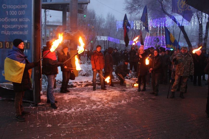 В Запорожье факельным шествием отметили День рождения Бандеры, - ФОТОРЕПОРТАЖ, фото-10
