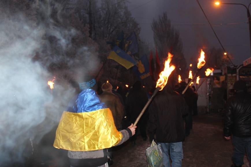 В Запорожье факельным шествием отметили День рождения Бандеры, - ФОТОРЕПОРТАЖ, фото-14