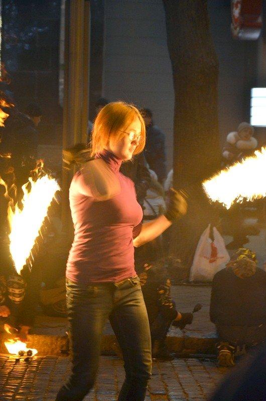 Дерибасовская после Нового года: баскетбол, фаер-шоу и олень (ВИДЕО, ФОТО), фото-10