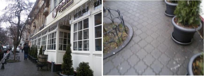 Ни пройти, ни проехать: одесский ресторан захватил тротуар среди зимы (ФОТО), фото-1