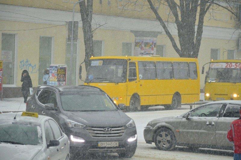 Снегопад укутал Одессу целиком всего за несколько часов (ВИДЕО, ФОТО), фото-1
