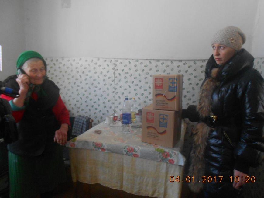 Одинокие пенсионеры Добропольского района получили гуманитарную помощь, фото-2
