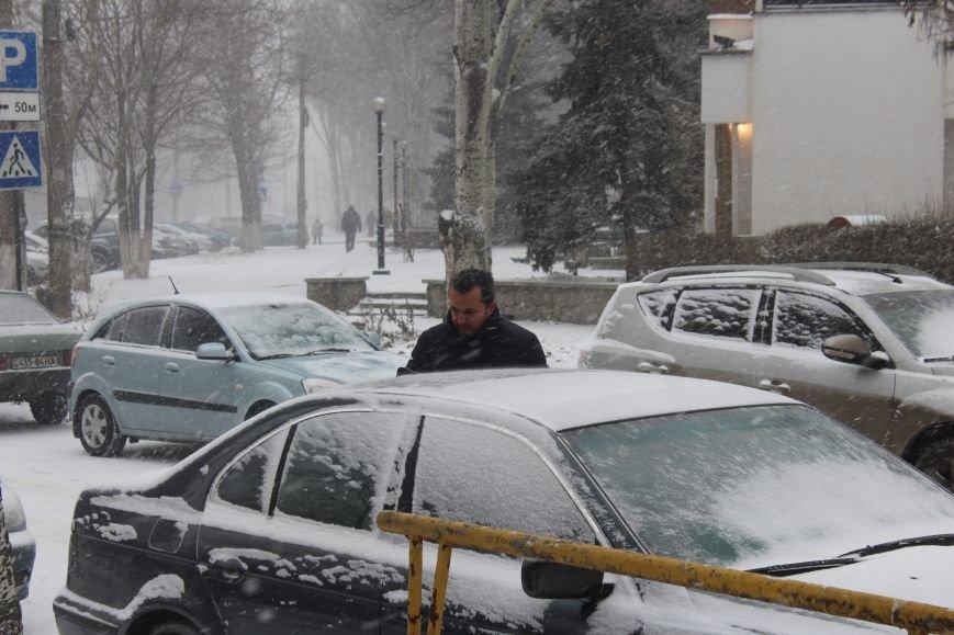Запорожье заметает снегом, - ФОТОРЕПОРТАЖ, фото-2