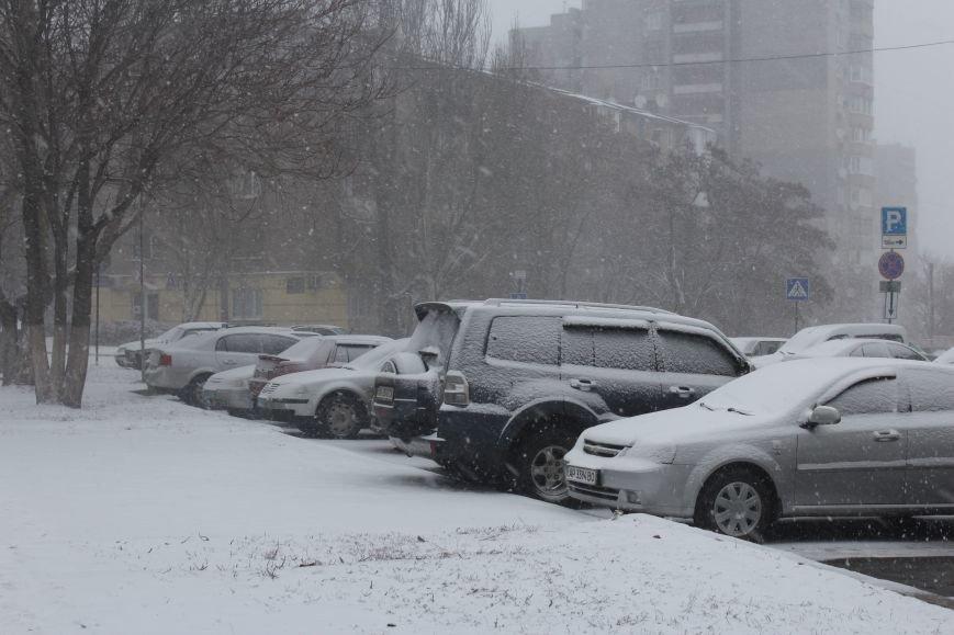 Запорожье заметает снегом, - ФОТОРЕПОРТАЖ, фото-3