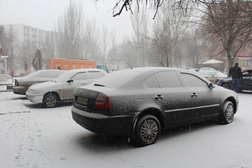 Запорожье заметает снегом, - ФОТОРЕПОРТАЖ, фото-11