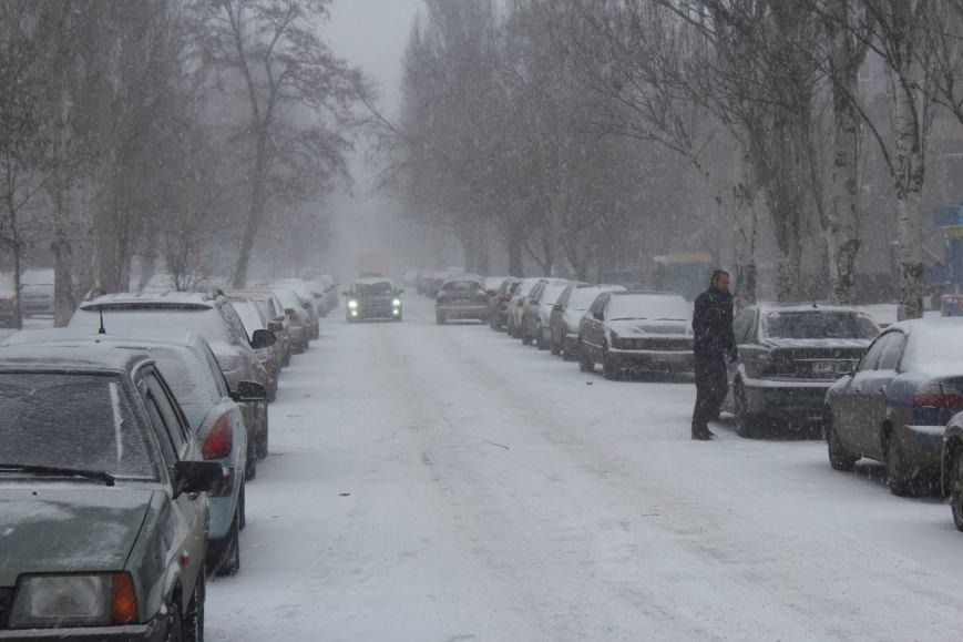 Запорожье заметает снегом, - ФОТОРЕПОРТАЖ, фото-8