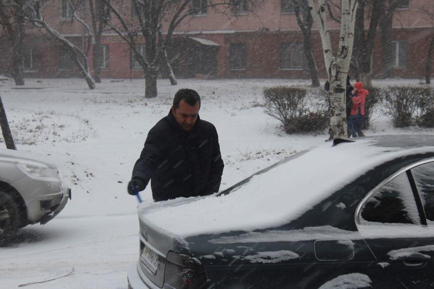 Запорожье заметает снегом, - ФОТОРЕПОРТАЖ, фото-10