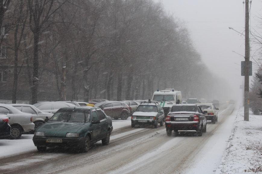 Запорожье заметает снегом, - ФОТОРЕПОРТАЖ, фото-4