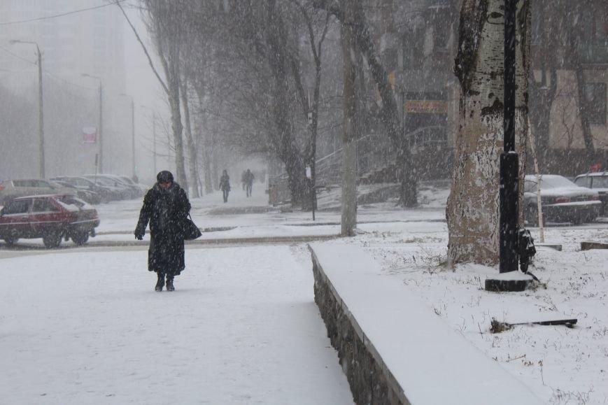 Запорожье заметает снегом, - ФОТОРЕПОРТАЖ, фото-6