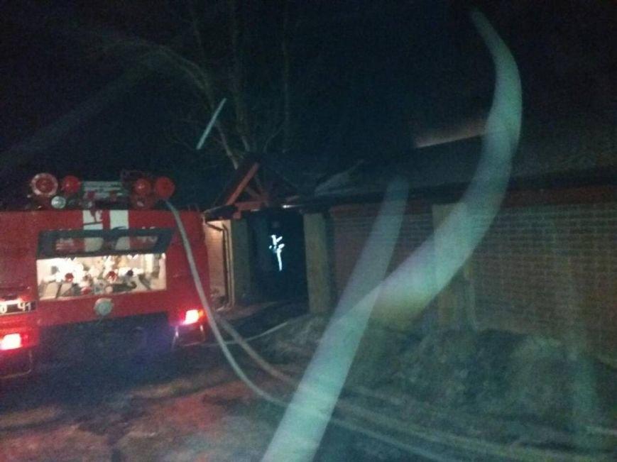 Пожар в Петропавловской Борщаговке: загорелась баня, фото-2