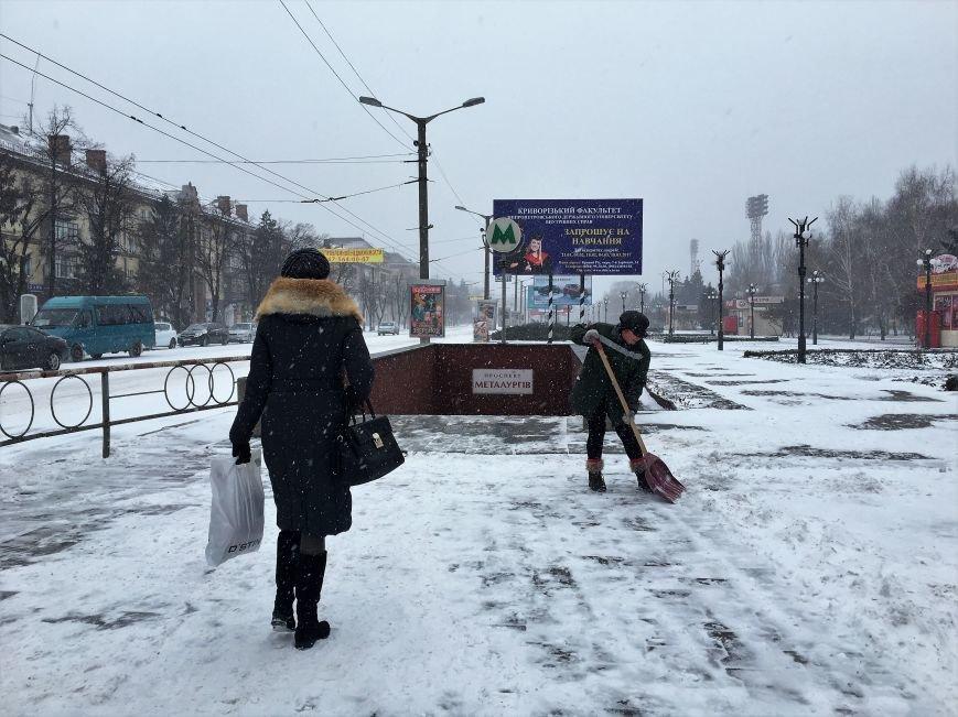 Кривой Рог за несколько часов замело снегом (ФОТО), фото-14