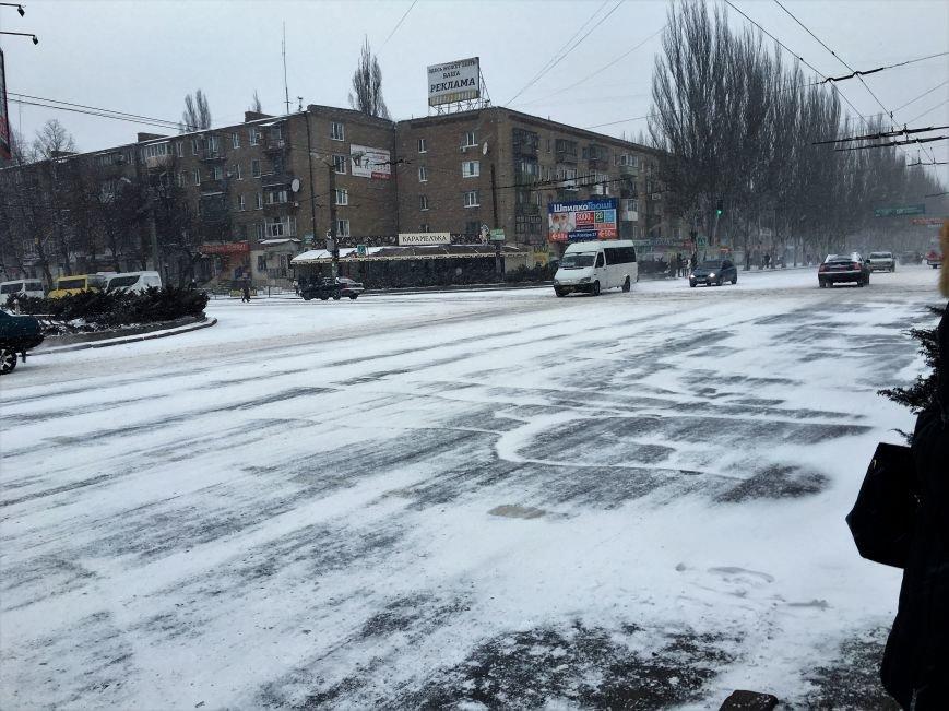 Кривой Рог за несколько часов замело снегом (ФОТО), фото-11
