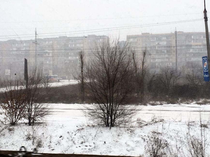 Кривой Рог за несколько часов замело снегом (ФОТО), фото-15