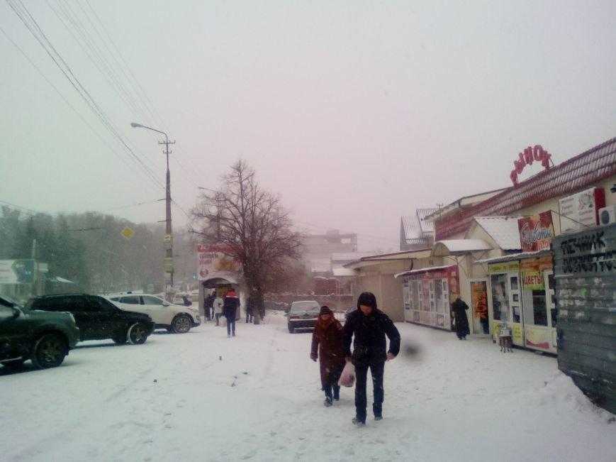 Как выглядит проспект Гагарина в Днепре во время снежного шторма (ФОТОРЕПОРТАЖ), фото-6