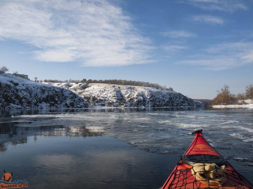 Зимнее Запорожье: вид из байдарки, - ФОТОРЕПОРТАЖ, фото-10