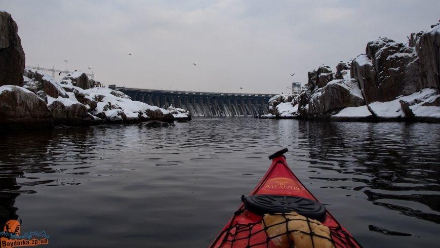 Зимнее Запорожье: вид из байдарки, - ФОТОРЕПОРТАЖ, фото-17