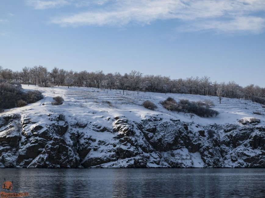 Зимнее Запорожье: вид из байдарки, - ФОТОРЕПОРТАЖ, фото-8