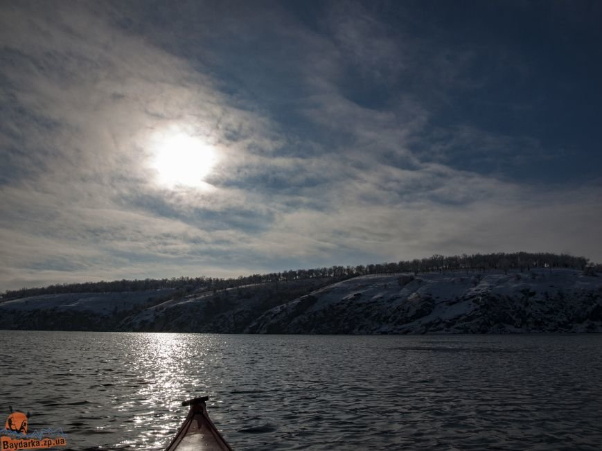 Зимнее Запорожье: вид из байдарки, - ФОТОРЕПОРТАЖ, фото-4