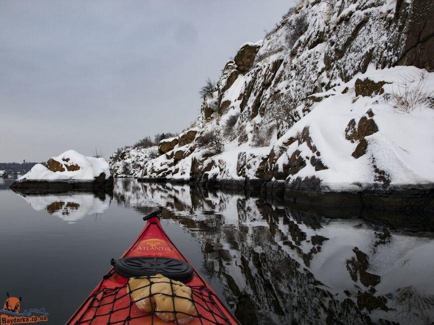 Зимнее Запорожье: вид из байдарки, - ФОТОРЕПОРТАЖ, фото-14