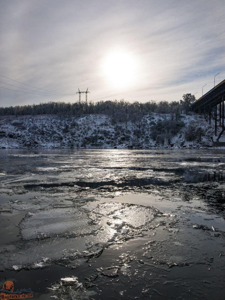 Зимнее Запорожье: вид из байдарки, - ФОТОРЕПОРТАЖ, фото-2