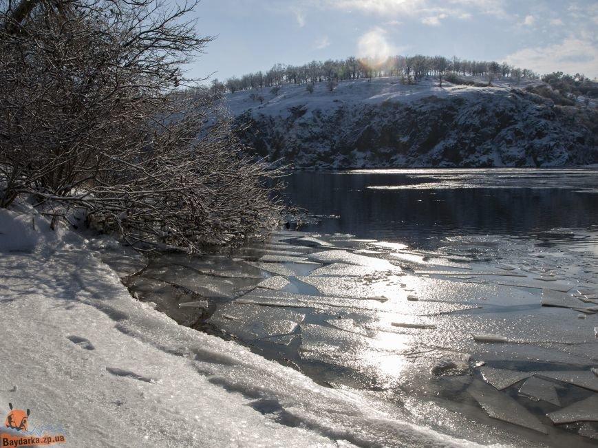 Зимнее Запорожье: вид из байдарки, - ФОТОРЕПОРТАЖ, фото-12