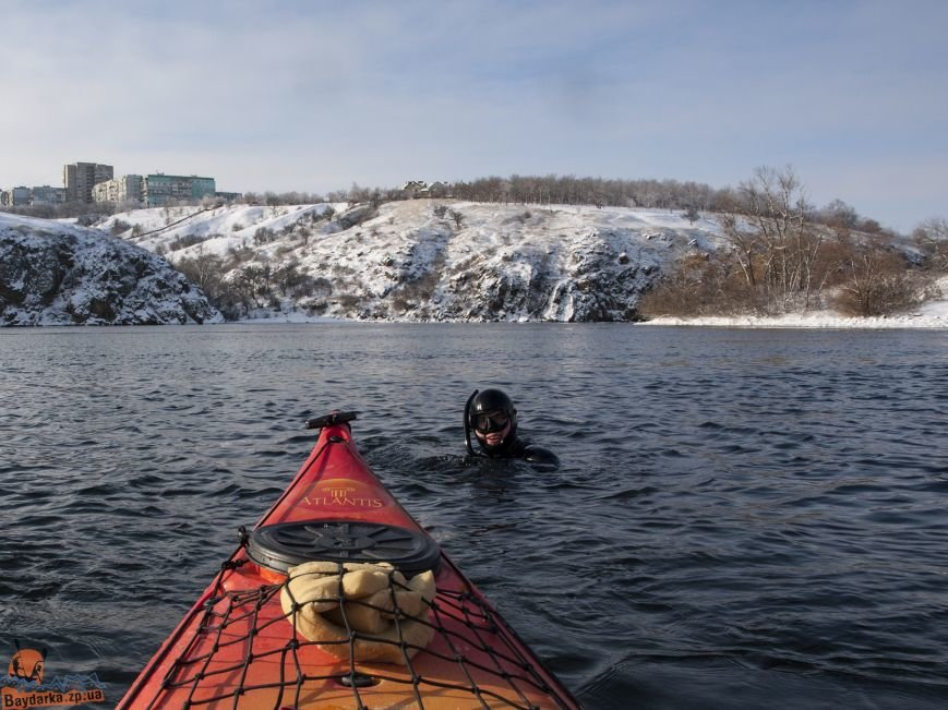 Зимнее Запорожье: вид из байдарки, - ФОТОРЕПОРТАЖ, фото-5