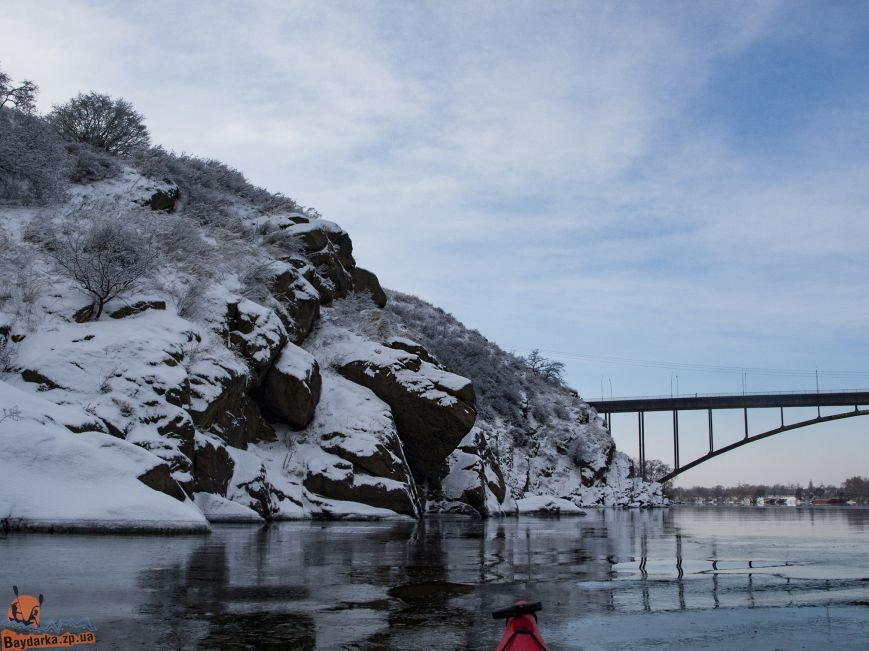 Зимнее Запорожье: вид из байдарки, - ФОТОРЕПОРТАЖ, фото-1