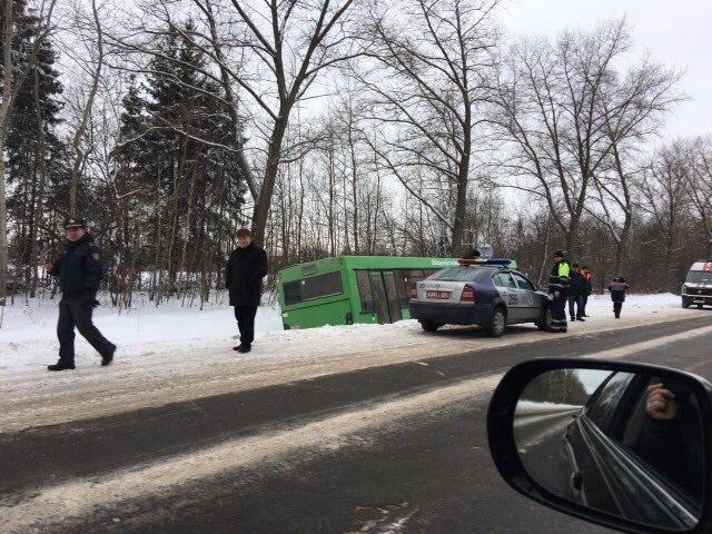 Под Полоцком водитель автобуса потерял сознание и съехал в кювет: у 26-летней пассажирки перелом предплечья, фото-1