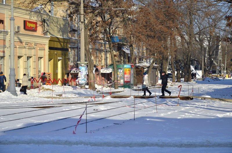 В Одессе снег завершил ремонт Тираспольской площади (ФОТО), фото-1